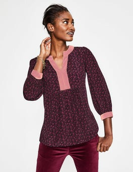Burgundy Vine Annabelle Top