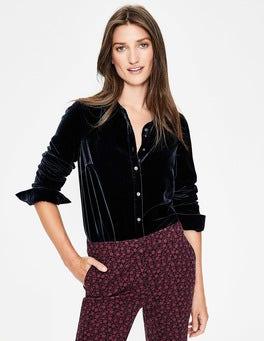 Navy Kristen Velvet Shirt