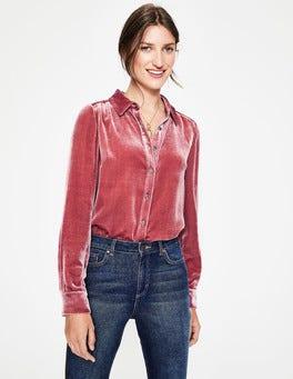 Blush Kristen Velvet Shirt