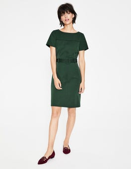 Chatsworth Green Anita Stitch Detail Dress