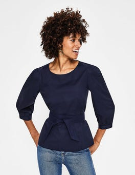 Navy Evie Top
