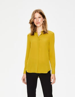 Hot Mustard Silk Shirt