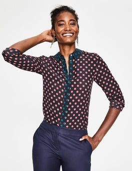 Blush Regular Spot Silk Shirt