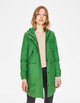 Rich Green Moleskin Duffle Coat