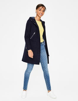 Women Navy Quilted Jacket At Boden