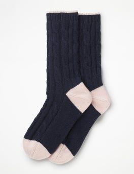 Navy Cashmere Socks