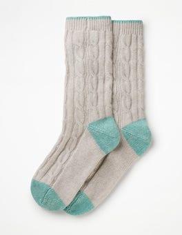 Silver Melange Cashmere Socks
