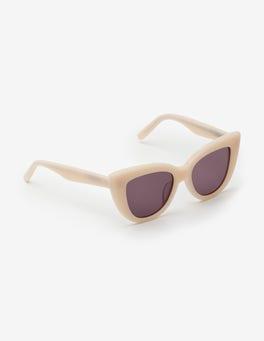 Perlweiß Valencia Sonnenbrille