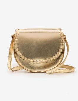 Gold Metallic Lingfield Mini Saddle Bag