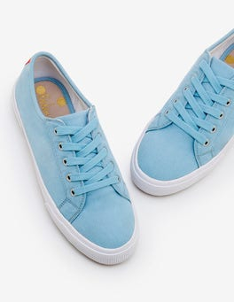 Heron Blue Canvas Plimsolls