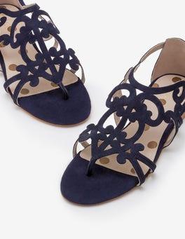 Navy Helen Sandals