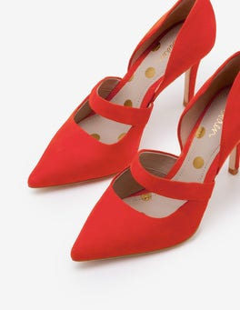 Red Pop Adrianna Heels