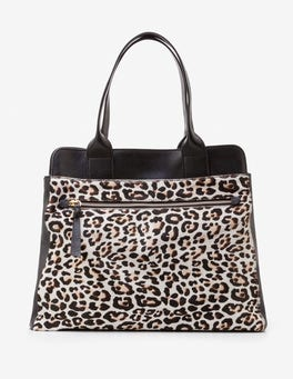 Ivory Leopard Sherborne Tote
