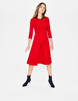 Post Box Red Irene Ponte Dress