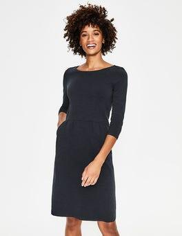 Navy Penny Jersey Dress