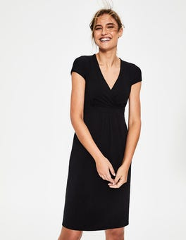 Black Casual Jersey Dress