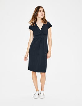 Navy Casual Jersey Dress