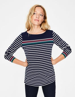 French Navy Multi Stripe Long Sleeve Breton