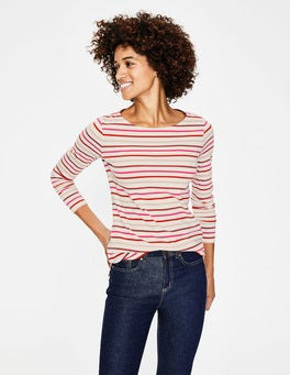 Rouge/Chalky Pink Multi Long Sleeve Breton