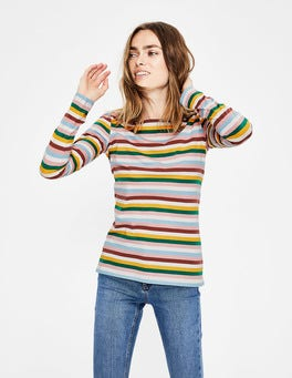 Conker/Mustard Multi Stripe Long Sleeve Breton
