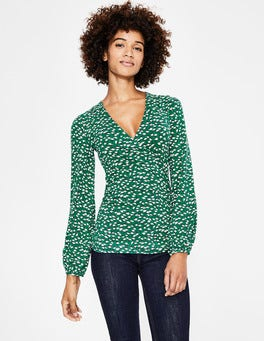 Forest Crocus Flower Elodie Wrap Top