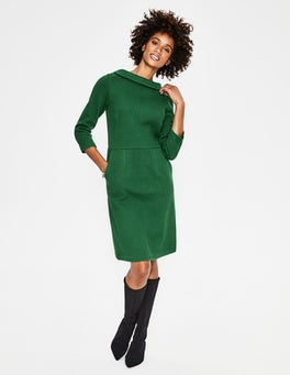Amazon Green Estella Jacquard Dress