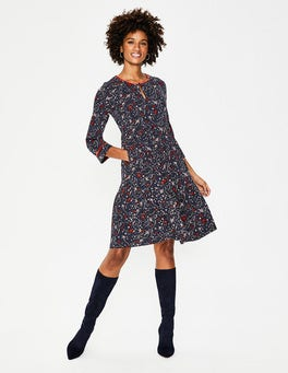 Navy Woodland Claire Jersey Dress