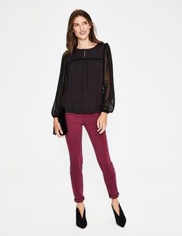 Noir Haut Violette en jersey