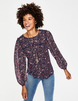 Navy Mystic Woodland Violette Top