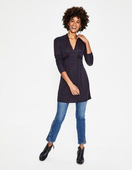 Navy Stardust Betty Jersey Tunic