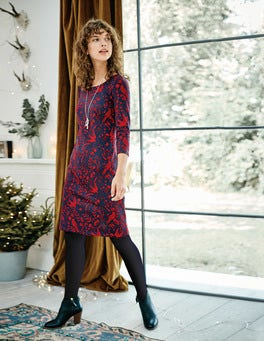 Winifred Jersey Jacquard Dress