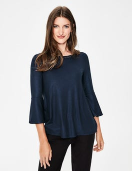 Tess Metallic Jersey Top