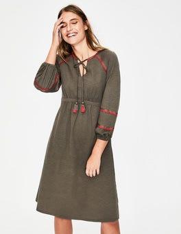 Klassisches Khaki Heidi Jerseykleid