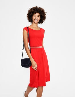 Red Pop Bernice Jersey Dress