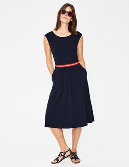 Navy Bernice Jersey Dress