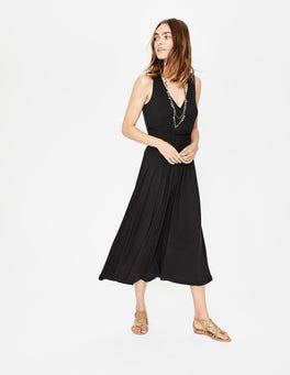 Black Elina Jersey Midi Dress