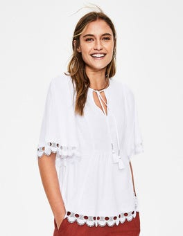 White Ayla Jersey Top