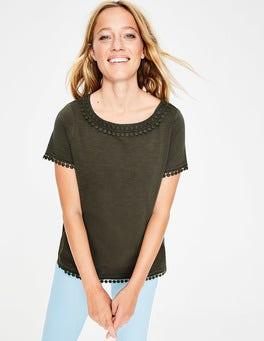 Khaki Thelma Jersey-T-Shirt