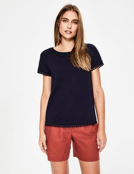 Navy Thelma Jersey T-shirt