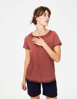 Rot Thelma Jersey-T-Shirt