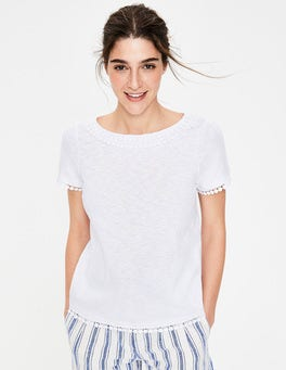 White Thelma Jersey T-shirt