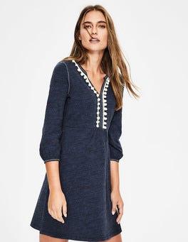 Blue Marl/Ivory Trim Carina Jersey Tunic