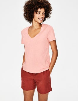 Chalky Pink The Cotton V-neck Tee