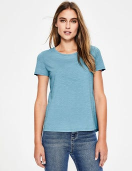 Heron Blue The Cotton Back Detail Tee