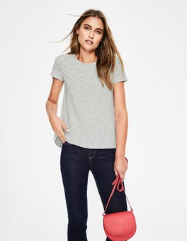 Ivory/Navy The Cotton Back Detail Tee