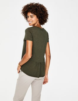 Khaki The Cotton Back Detail Tee