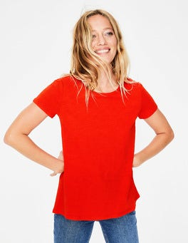 Red Pop The Cotton Back Detail Tee