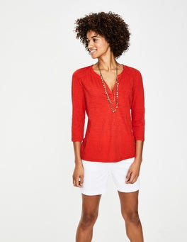 Red Pop The Cotton Notch Tee