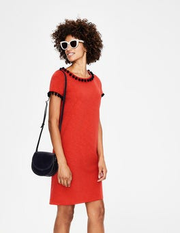 Red Pop Bridget Jersey Dress