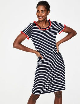 Navy/Ivory Stripe Bridget Jersey Dress